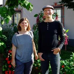 Immer im Einsatz: Sybille Fuchs und Jan Jacob Hofmann  vom Ginnheimer Kirchplatzgärtchen.