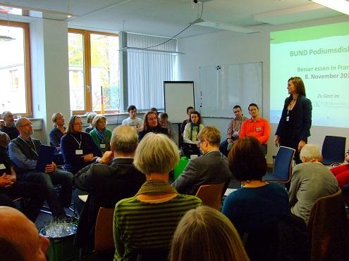 Der BUND Frankfurt diskutierte über Bioprodukte aus der Region