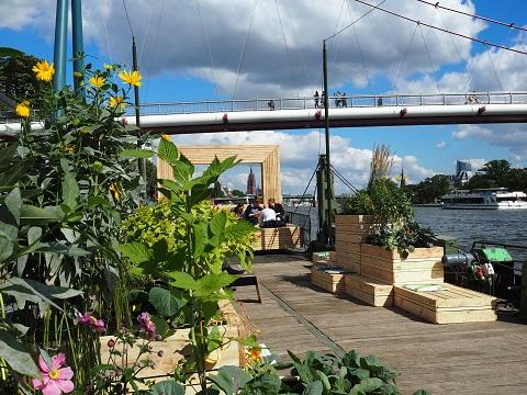 Schwimmender Garten  - Projekt des Architektursommers Rhein-Main 2015