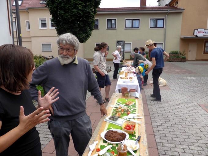 Die Tauschbörse bot reichlich Gelegenheit zum Austausch zwischen den urbanen Gärtnern