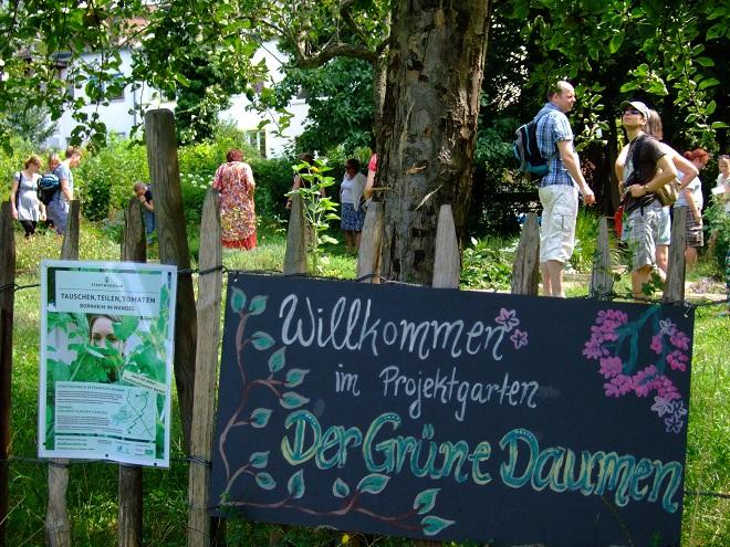 Eine der Stadtwandeln-Stationen: der Schulgarten DerGrüneDaumen