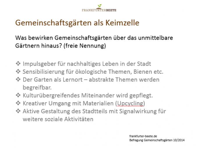 Frankfurter Gemeinschaftsgärten verstehen sich als Impulsgeber