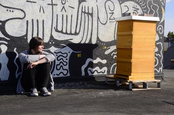 Offenbacher Stadtbienen auf dem Dach der HfG
