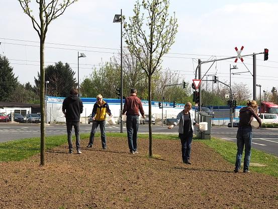 Einsäen einer Wildblumenwiese durch den BUND Frankfurt