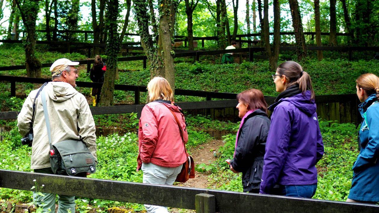 Führung einer Gruppe durch den Nordpark Bonames