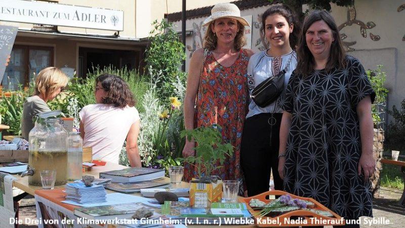 Die Drei von der Klimawerkstatt Ginnheim: (v. l. n. r.) Wiebke Kabel, Nadia Thierauf und Sybille Fuchs.